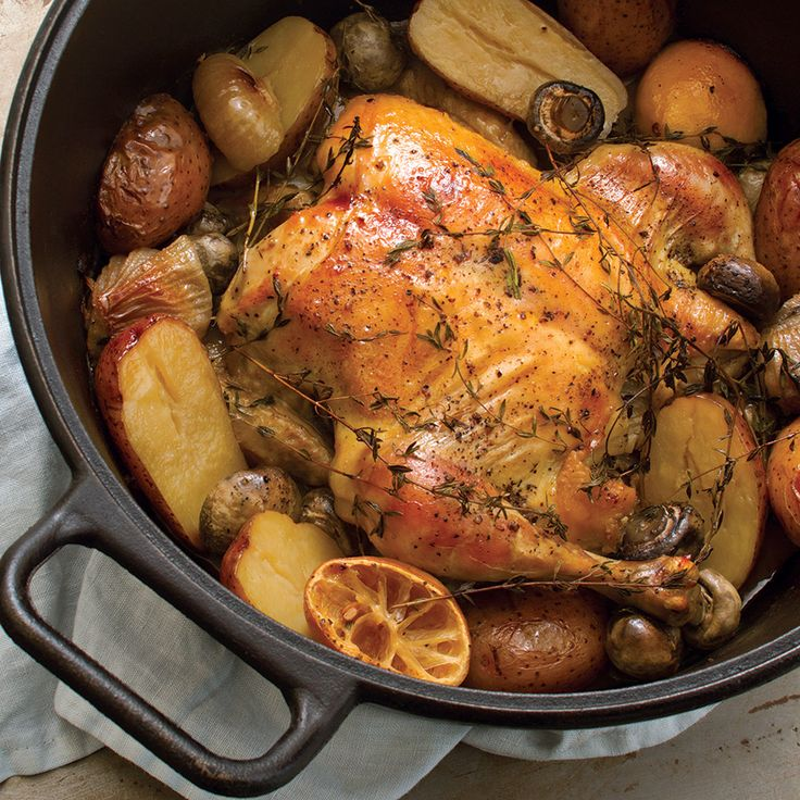 Dutch Oven Roasted Chicken Recipe and Video | Self ...