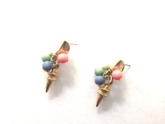 70s Dangle earrings Vintage Cluster Dangle by HeiressVintage