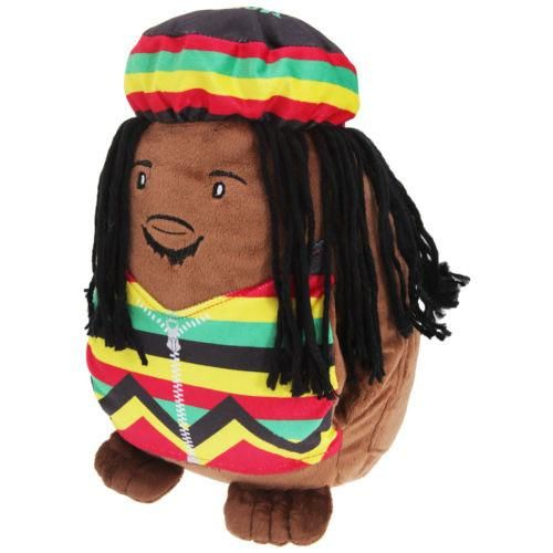 """Bob Marley - Spuddy Icons 11"""" plush cushion with pockets for drinks, snacks and remote. #bobmarley #spuddy #gift #cushion"""