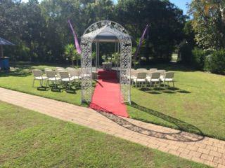Our wedding gazebo for onsite wedding receptions at Quality Hotel Ballina.