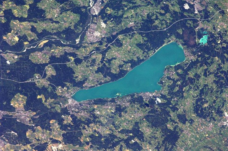 Lake Starnberg, Germany. Picture: Astronaut Alexander Gerst. I lived on the edge of this lake for a month, through snow and sunshine.