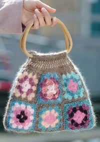 Fin hæklet taske