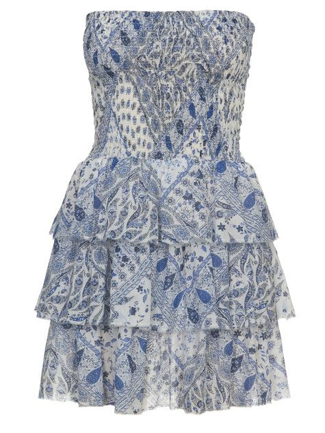 Burdastyle mini dress shirred bodice