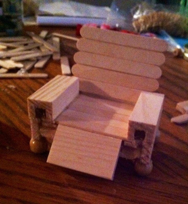 Donu0027t Have Miniature Doll House Furniture Use Mini Popsicle Sticks, Tiny  Wood,