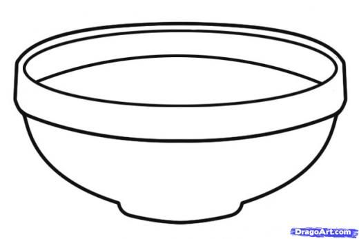 bowl of cereal coloring pages - photo#9
