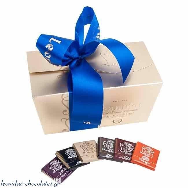Κλασικό κουτί με 1,2 κιλά σοκολατάκια napolitan (Χωρίς Γλουτένη) - Κλασσικά Κουτιά με πραλίνες Leonidas - Κουτιά με Πραλίνες
