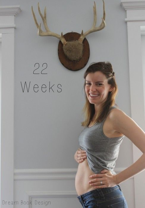22 weeks pregnant belly button
