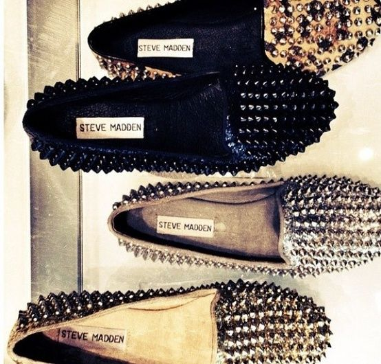 Steve Madden studded loafers.