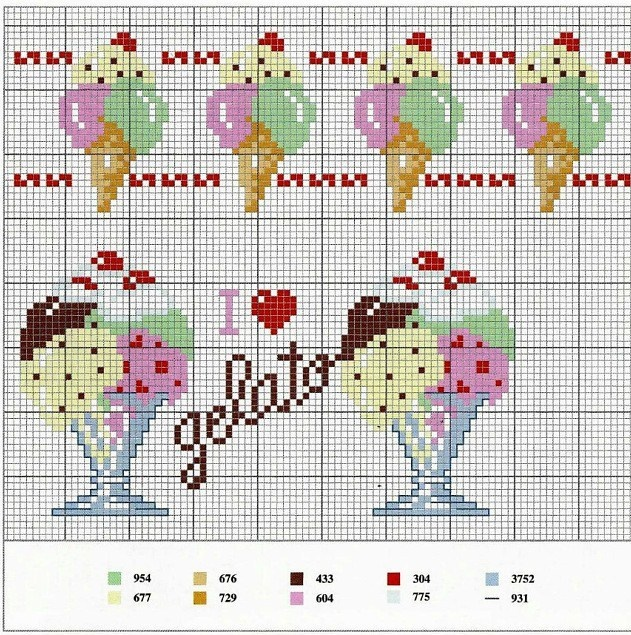 Gelato cross-stitch