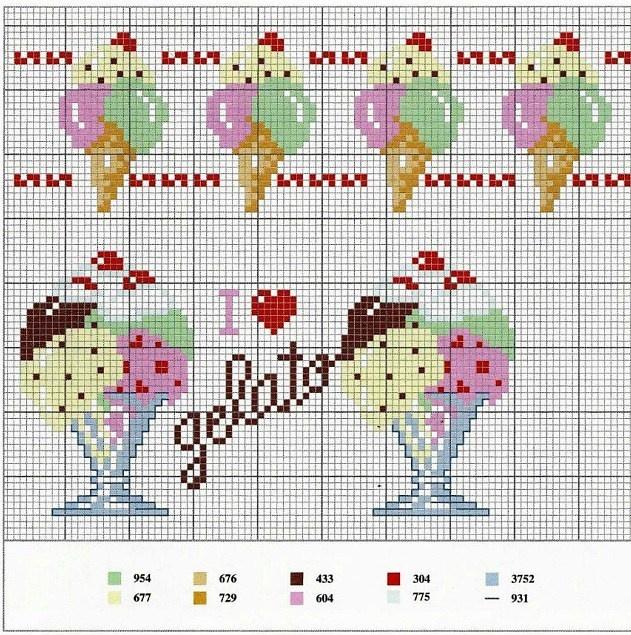 Gelato cross-stitch