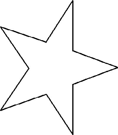 Wacky Star Cutouts Printable - 3d House Drawing •