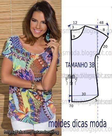 Выкройки летних блузок (Шитье и крой) | Журнал Вдохновение Рукодельницы
