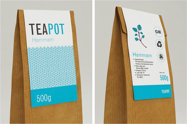 Teapot – Packaging Labels by Nadia Arioui