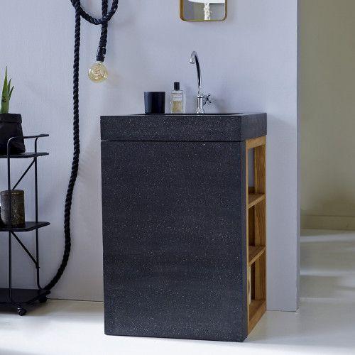 Möbel Mit Eingebautem Waschbecken U2013 Waschtische Aus Teak Mary Loub    Tikamoon