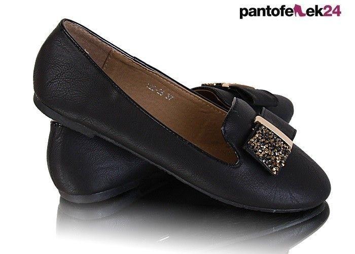 Czarne klasyczne balerinki / Black classic ballerines / 12,90 PLN #shoes #ballerines #black #spring #fashion