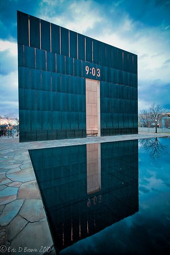 The Oklahoma City Bombing Memorial, such a touching tribute to all those we lost.