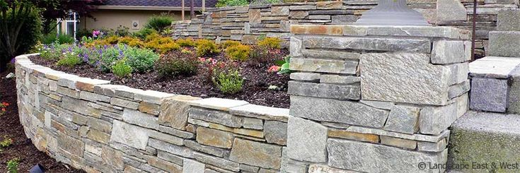 Retaining Wall Design by Landscape East & West