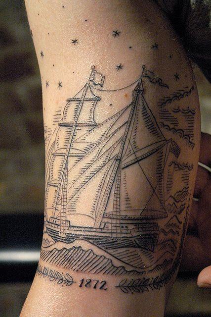 Tattoo by Duke Riley by DukeRiley, via Flickr