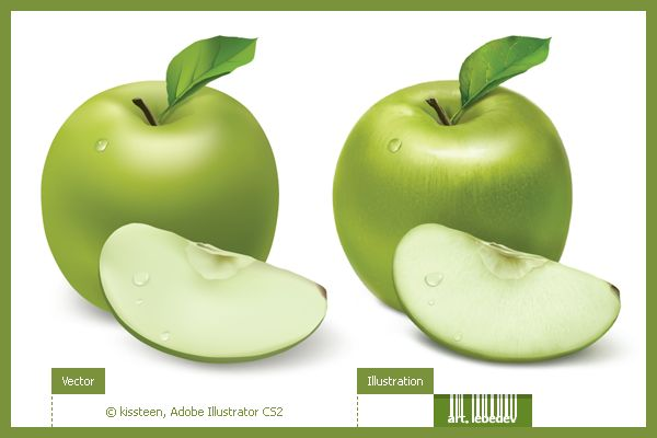 Рисуем яблочко мэшами *