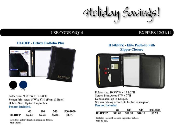 Deluxe Padfolio Plus Just $755 (R) for 40 Pcs - Free Sample w - free sample flyers