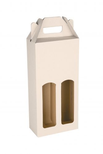 КЛЕРОС Картонная коробка для 2 винных бутылок объёмом 0,75 л.           Максимальный размер печати: 120 x 120 мм.           Максимальный размер печати: 80 x 80 мм.           Максимальный размер печати: 80 x 80 мм.