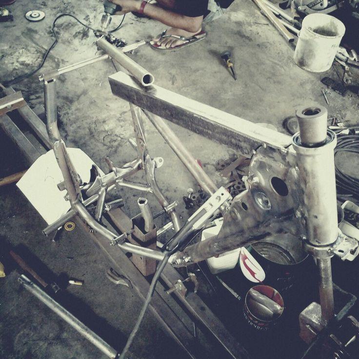 Suzuki ts frame restoration