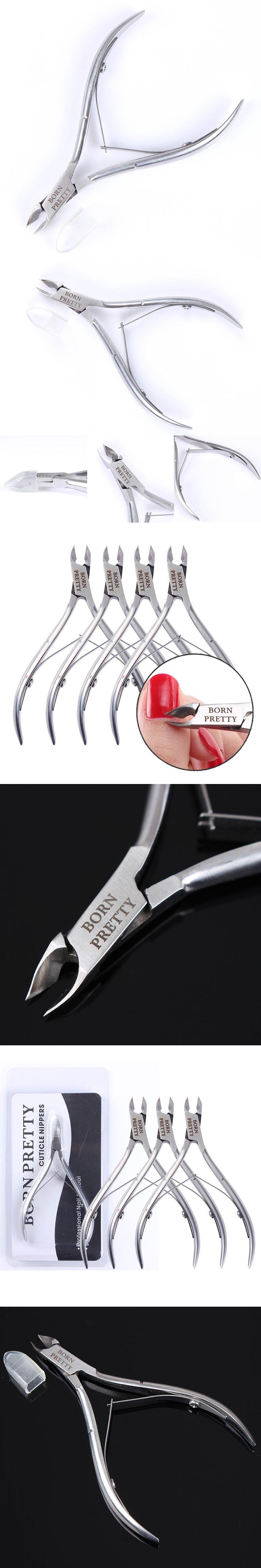 1Pc BORN PRETTY Silver Nail Cuticle Nipper Clipper Scissor Plier Dead Skin Remover Nail Treatment Manicure Nail Art Tools