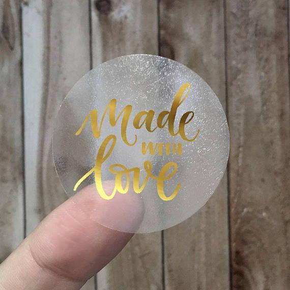 100% HANDMADE - Gold Foil Labels - Sticker - Seal - #12
