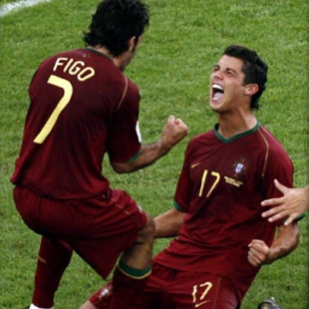Figo and Cristiano Ronaldo  Portugal national football team