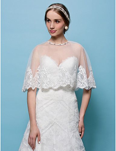 Wedding  Wraps Tulle Capelets(More Colors) – USD $ 48.99