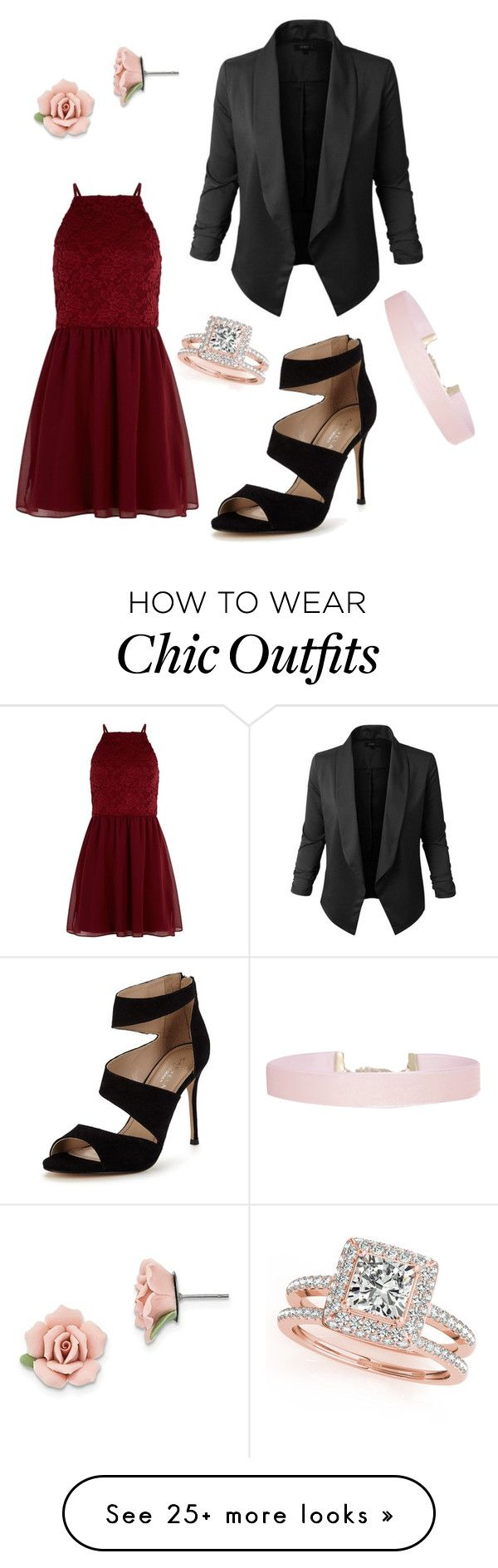 """Date Night ❤"" by denova17 on Polyvore featuring New Look, Jupe de Abby, Carvela, Humble Chic, Allurez and 1928"