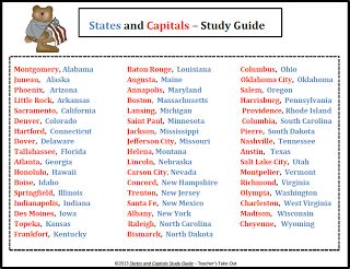Best USA States Capitals Images On Pinterest States And - Usa state and capital map