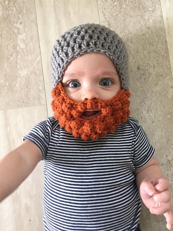 ec229cdec40 Ginger Beard hat Crochet baby beard hat beard hat baby boy
