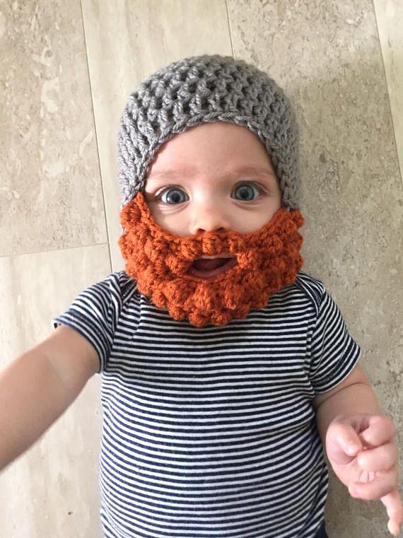 f6f52978640 Ginger Beard hat Crochet baby beard hat beard hat baby boy