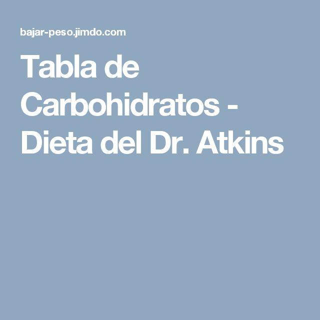 Tabla de Carbohidratos - Dieta del Dr. Atkins