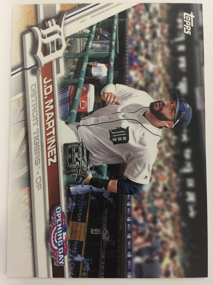 2017 Topps Opening Day #172 J.D. Martinez - TIGERS