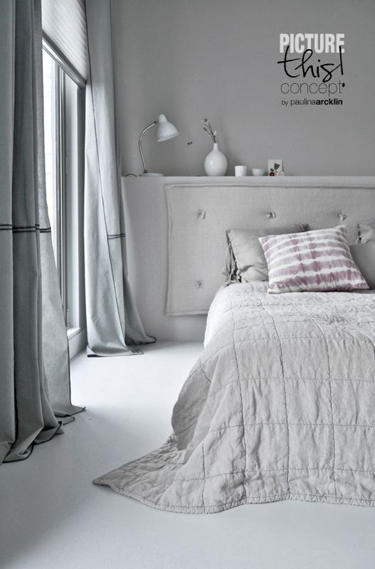 Calming monocolour bedroom   Styling: Vitwonen Magazine   © Paulina Arcklin