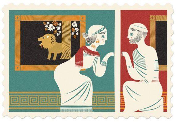Pyrame et Thisbé / grec / babylonien par StudioTipi sur Etsy, $5.75