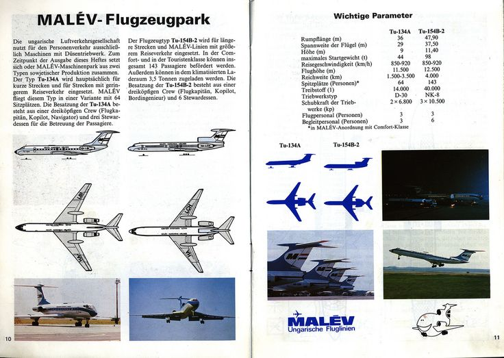 Malév Passagier-informationen 1988_2, fleet; tourism travel brochure | by worldtravellib World Travel library