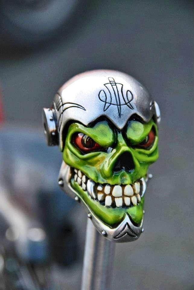 Sick skull shift knob. Harley-Davidson of Long Branch www.hdlongbranch.com