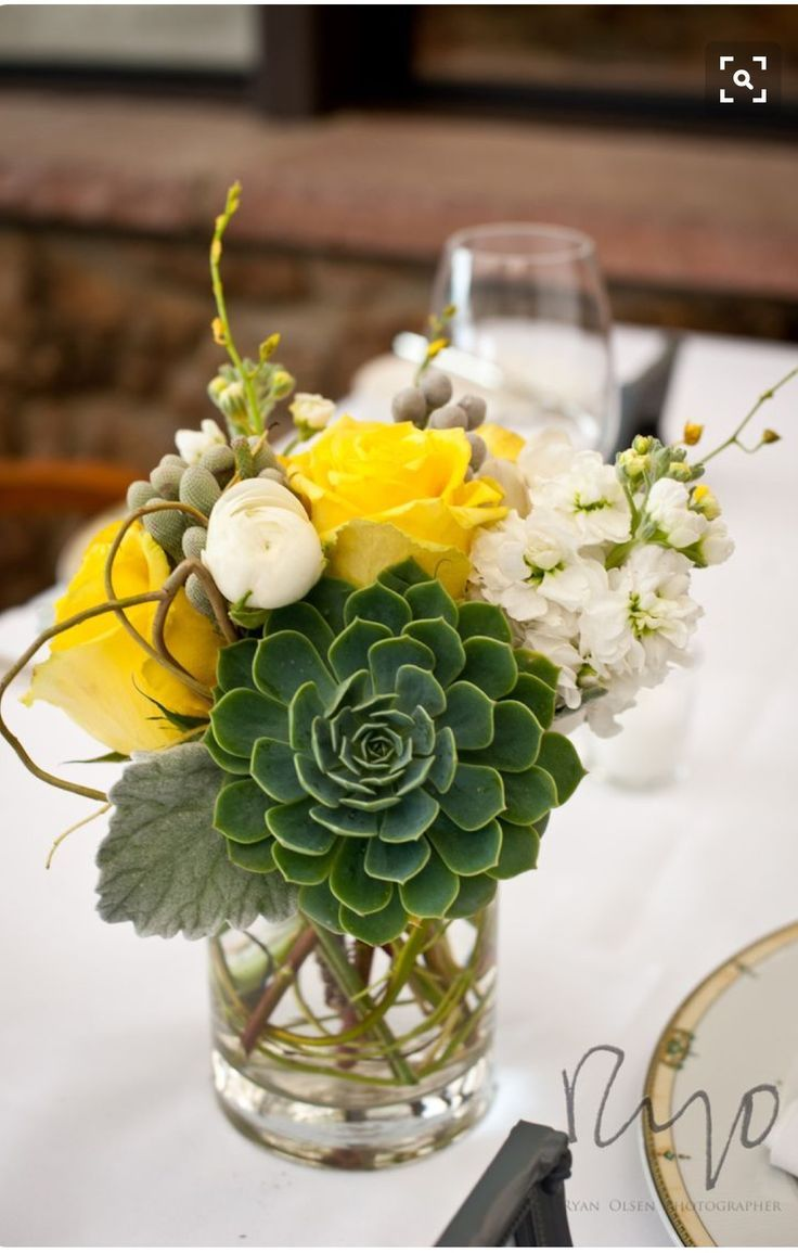Succulent Flower Centerpieces Wedding Flower Centerpieces Flower Arrangements