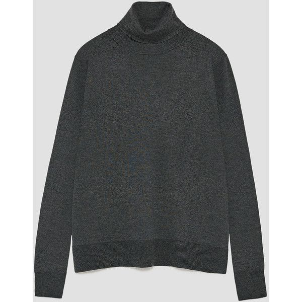 POLO NECK SWEATER - Basics-KNITWEAR-WOMAN | ZARA Italy (30 CAD) ❤ liked on Polyvore featuring tops, sweaters, polo neck sweater, knitwear sweater, turtle neck sweater, turtle neck top and turtleneck sweaters