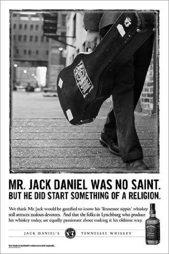 PP32272 Jack Daniels advertising 61cm x 91.5cm maxi poster: Amazon.co.uk: Kitchen & Home