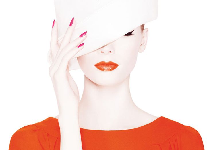 Orange Lips - Julia Hafstrom models Dior's Summer Mix Campaign (June 2012)