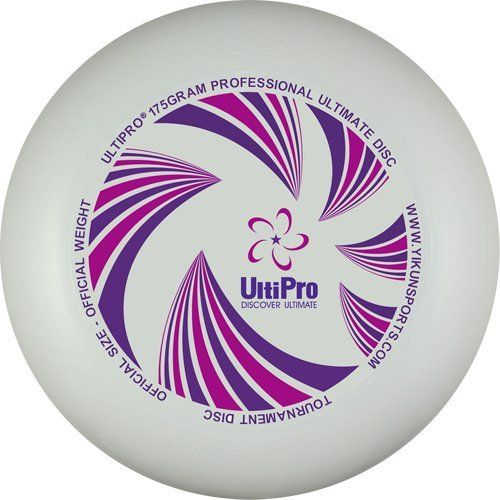 UltiPro 175 gram Ultimate Disc by Yikun Sports. $8.89. UltiPro is focused on providing Ultimate players with quality official Ultimate discs for competitive games. UltiPro is commited to excellent performance and providing an unbeatable experience for throwing and catching.  UltiPro discs have recently been introduced in international tournaments around the world including the China Ultimate tournament, WUCC 2010 (Czech), EUC 2011 (Slovenia), PULL 2011 (Philippines), KUT 201...