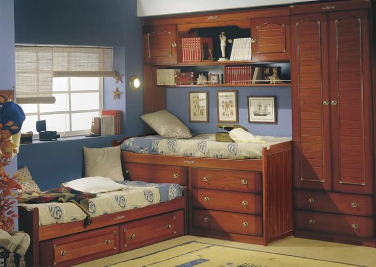 Compacto camas en ele Dormitorio Juvenil Barco Java