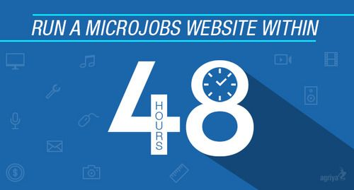 Run a microjobs website within 48 hours