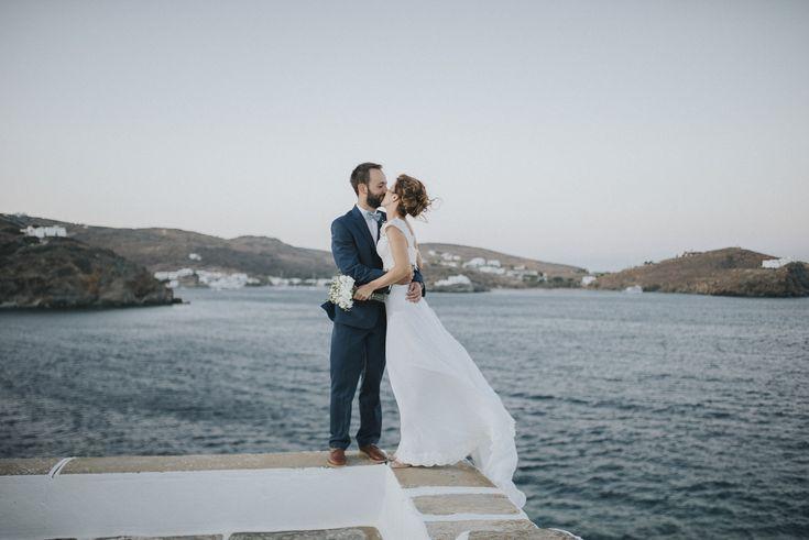 lafete, Sifnos, blue sea, wedding shooting, happy couple