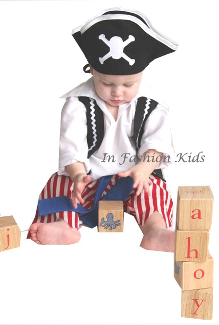 Infant Pirate Costume - Baby Pirate Boys Costume