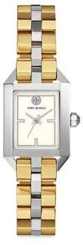 Tory Burch Dalloway Two-Tone Stainless Steel Bracelet Watch